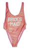 Bridesmaid Pink One Piece Swimsuit