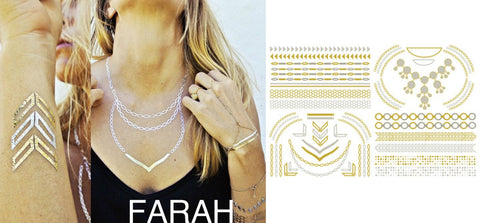 Gold Tattoos - Farah