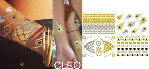 Gold Tattoos - Cleo