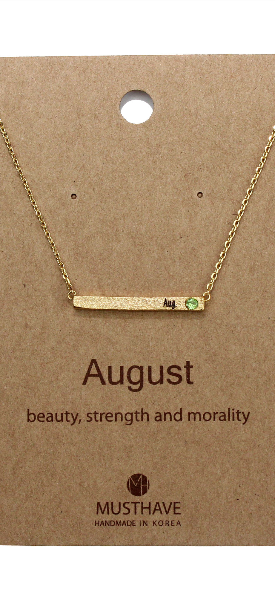 Which is your Bday Month? August Necklace
