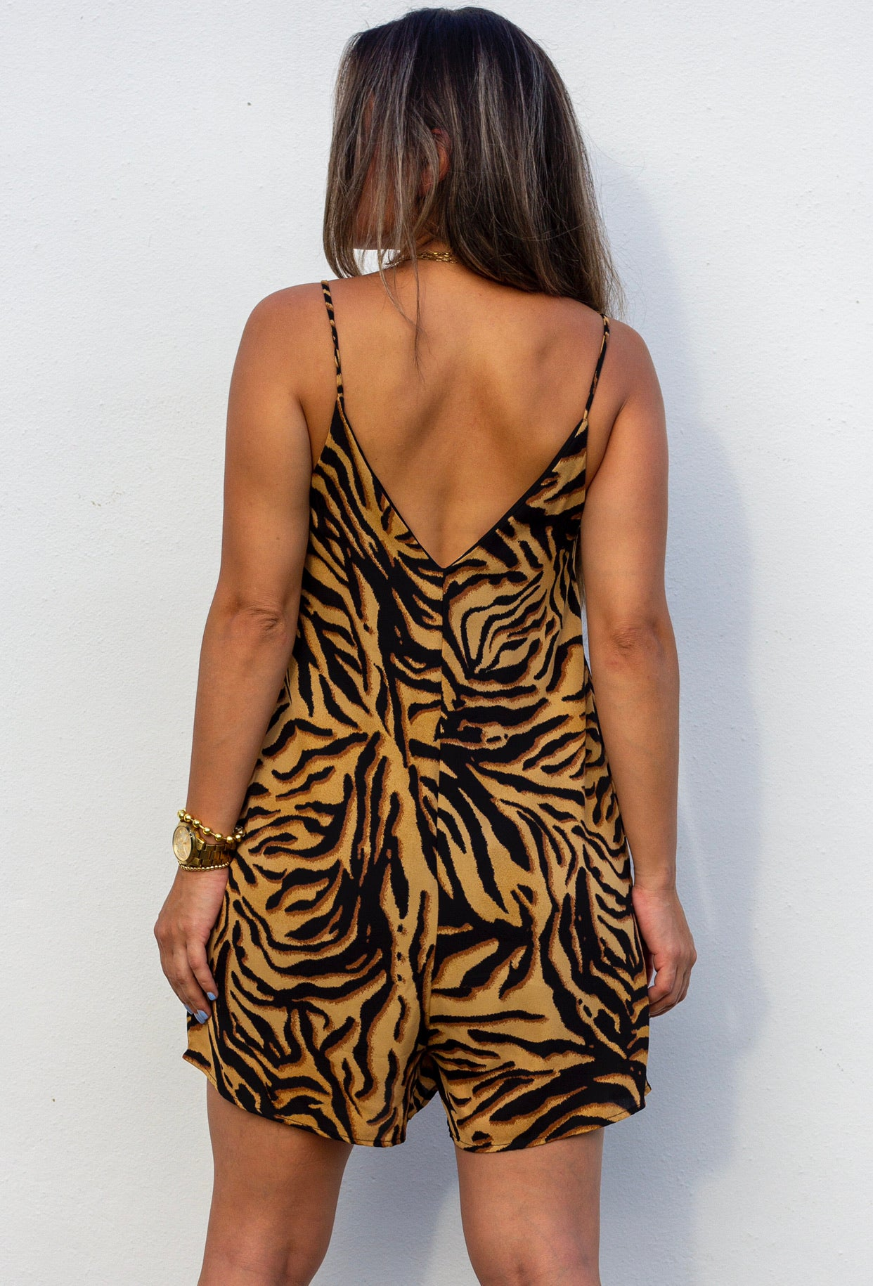 On the Wild Side Animal Print Romper