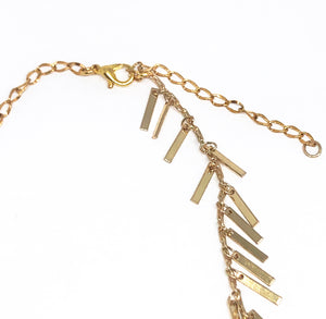Lucky Fringes Gold Chain Choker Necklace