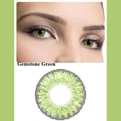 Natural gemstone green (12 months) contact lenses