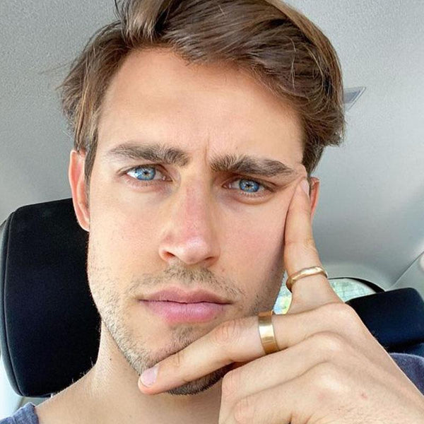 Men's Shiny Blue (12 Months) Contact Lenses