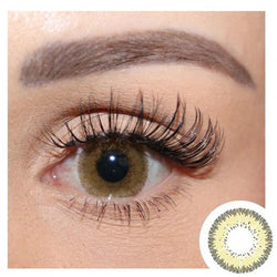Natural Grid Yellow (12 months) contact lenses