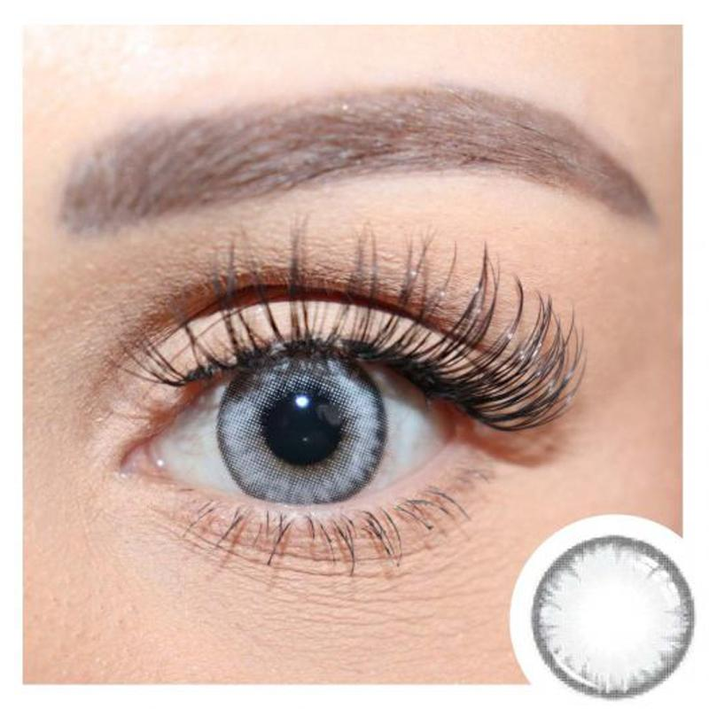 Natural models light gray (12 months) contact lenses