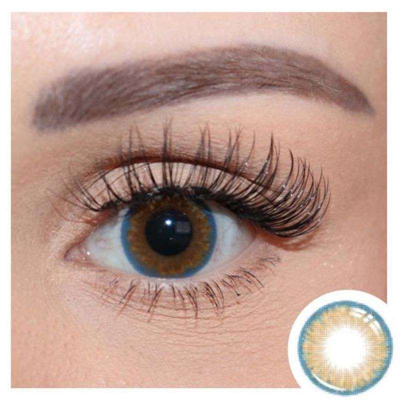 Natural blue and gray two-tone (12 months) contact lenses