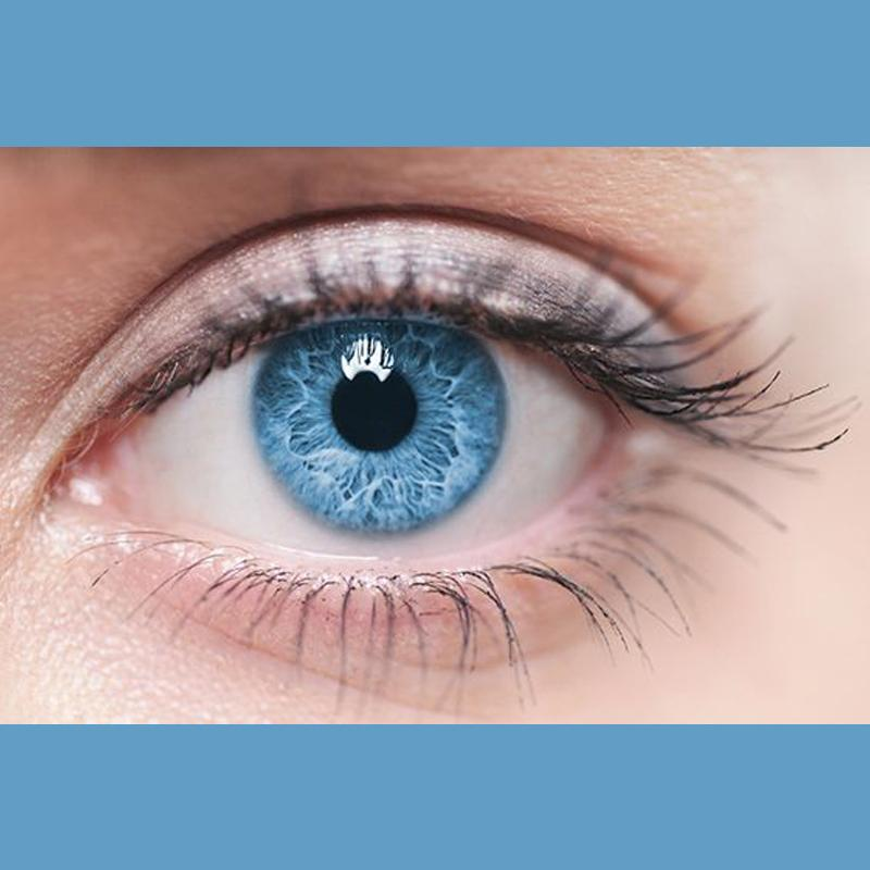 Natural brilliant blue (12 months) contact lenses