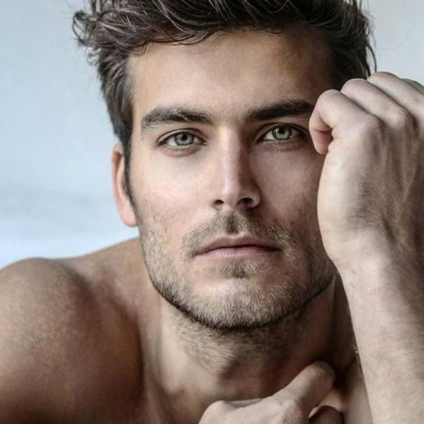 Men's artificial gray (12 months) contact lenses