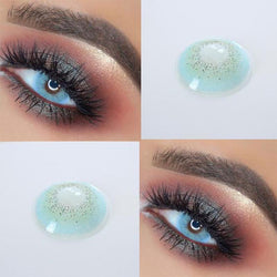 Transparent light blue (12 months) contact lenses