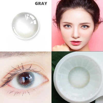 gray (12 months) contact lenses