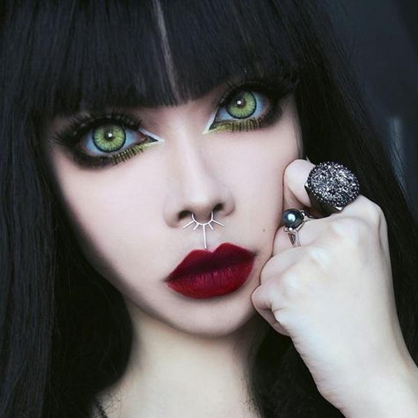 Cosplay Halloween dark green eyes (12 months) contact lenses