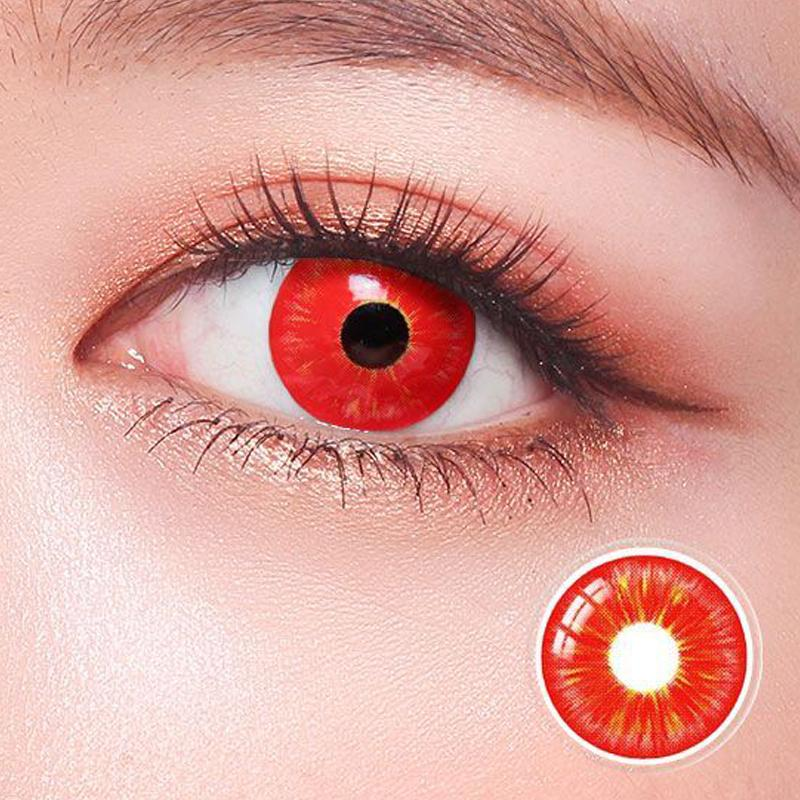 cosplay Halloween red eyes (12 months) contact lenses