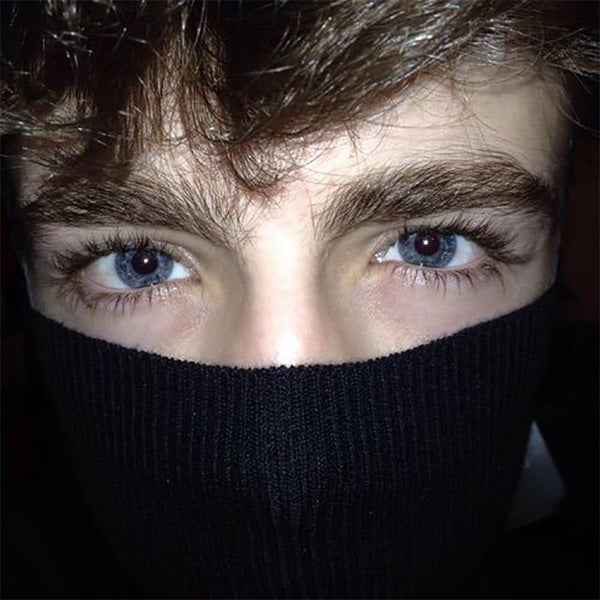 Natural men's mesh blue (12 months) contact lenses