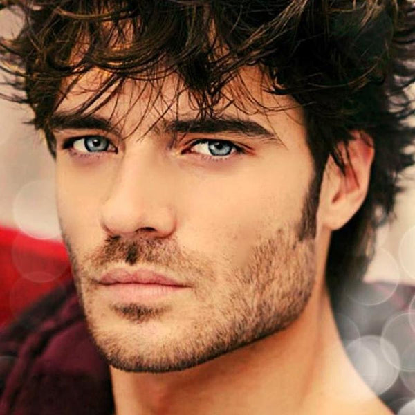 Men's natural light blue (12 months) contact lenses