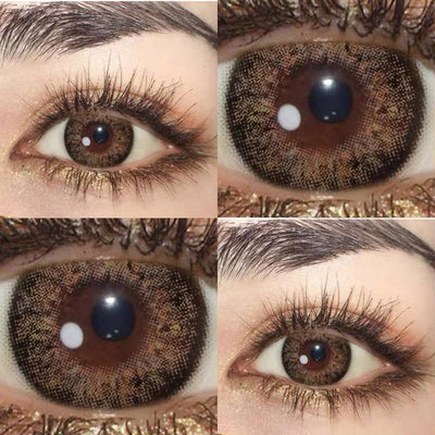 Halloween black brown (12 months) cosmetic contact lenses