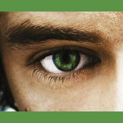 Men's green eye (12 months) contact lenses