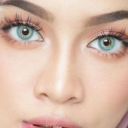 Three-ring light green (12 months) contact lenses
