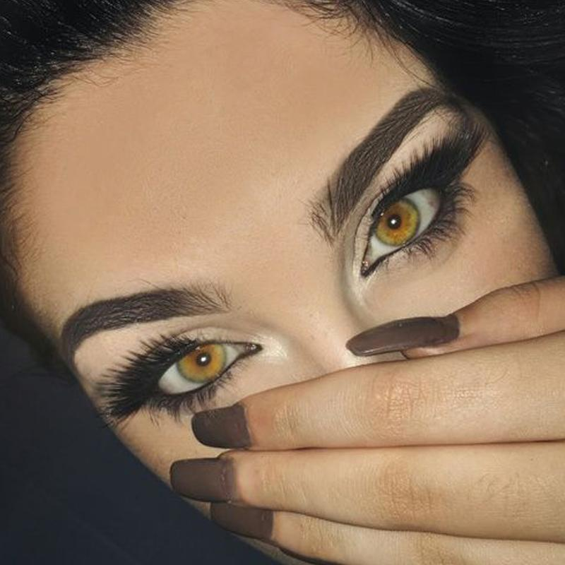 Deep yellow (12 months) contact lenses