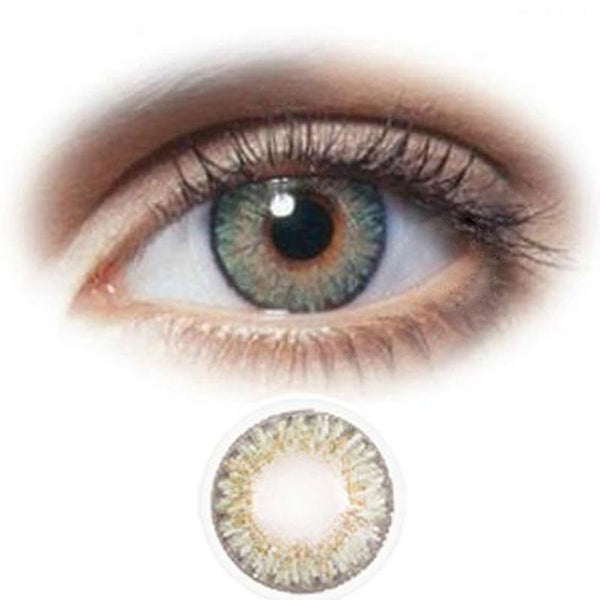 Natural ice crystal brown gray (12 months) contact lenses