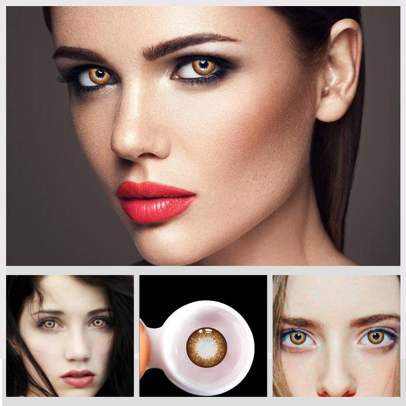 Eye Circle Lens Star Barbie Gold Colored Contact Lenses - ilabar