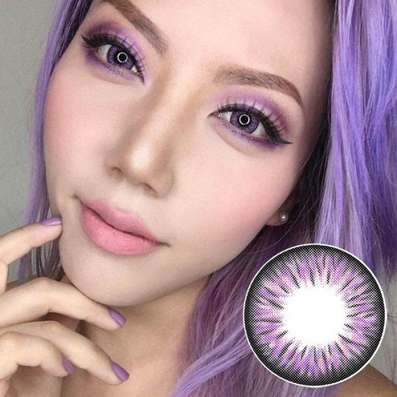 cosplay purple big eye contact lenses (12 months) contact lenses