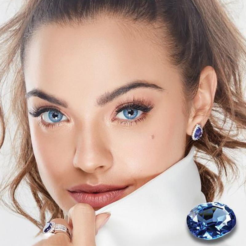 Natural diamond blue (12 months) contact lenses