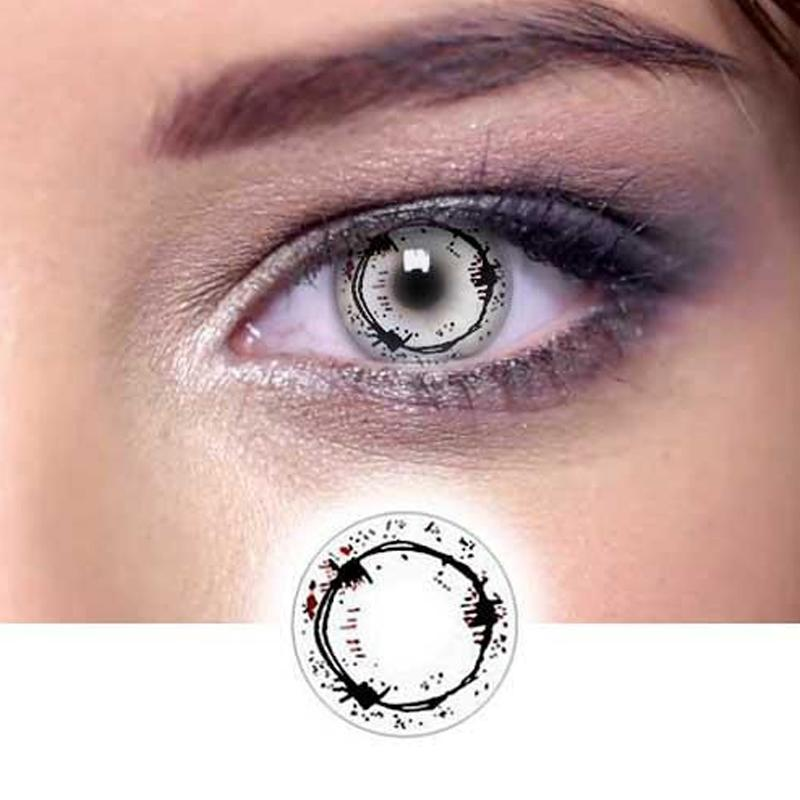 cosplay blood mark (12 months) contact lenses
