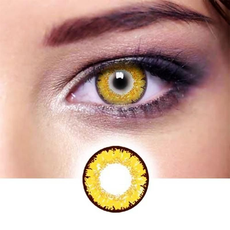 Natural Fireworks Golden Contacts (12 months) contact lenses