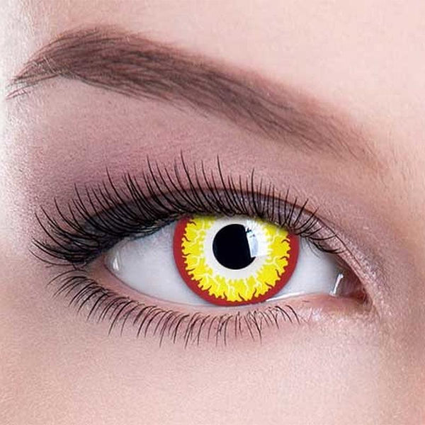 cosplay fireworks golden contacts (12 months) contact lenses