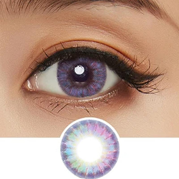 natural rainbow purple (12 months) contact lenses