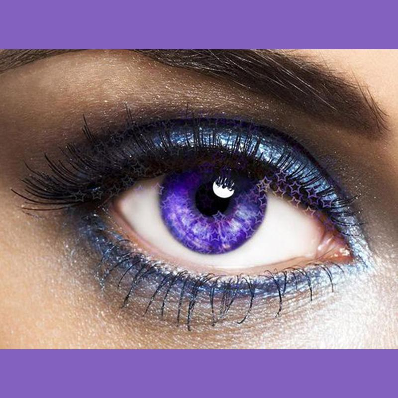 Shiny fireworks purple (12 months) contact lenses