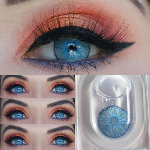 Natural dark blue (12 months) contact lenses