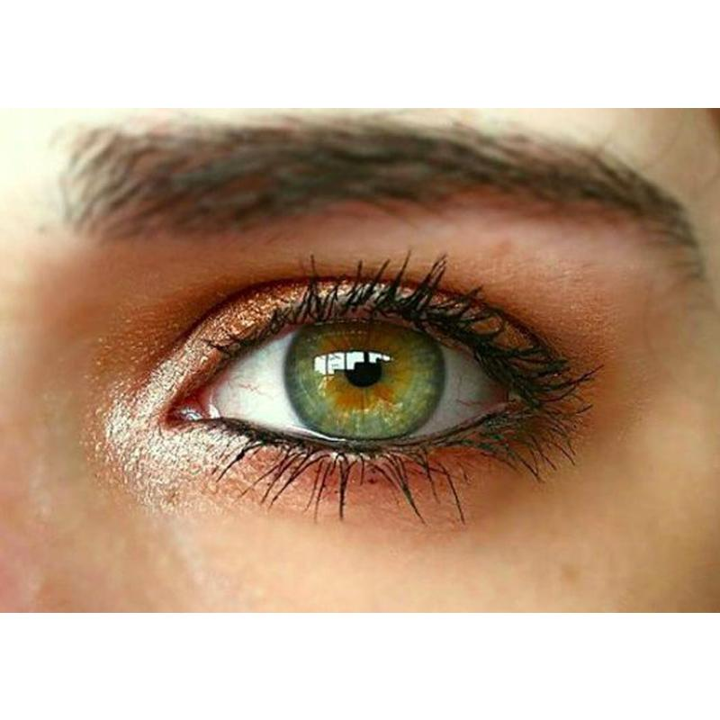 Natural rainbow three-color green (12 months) contact lenses