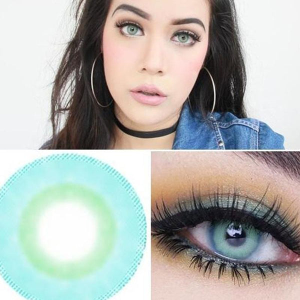 Natural Big Eye Grass Green Contact Lens - ilabar
