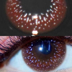 Starry dark brown (12 months) contact lenses