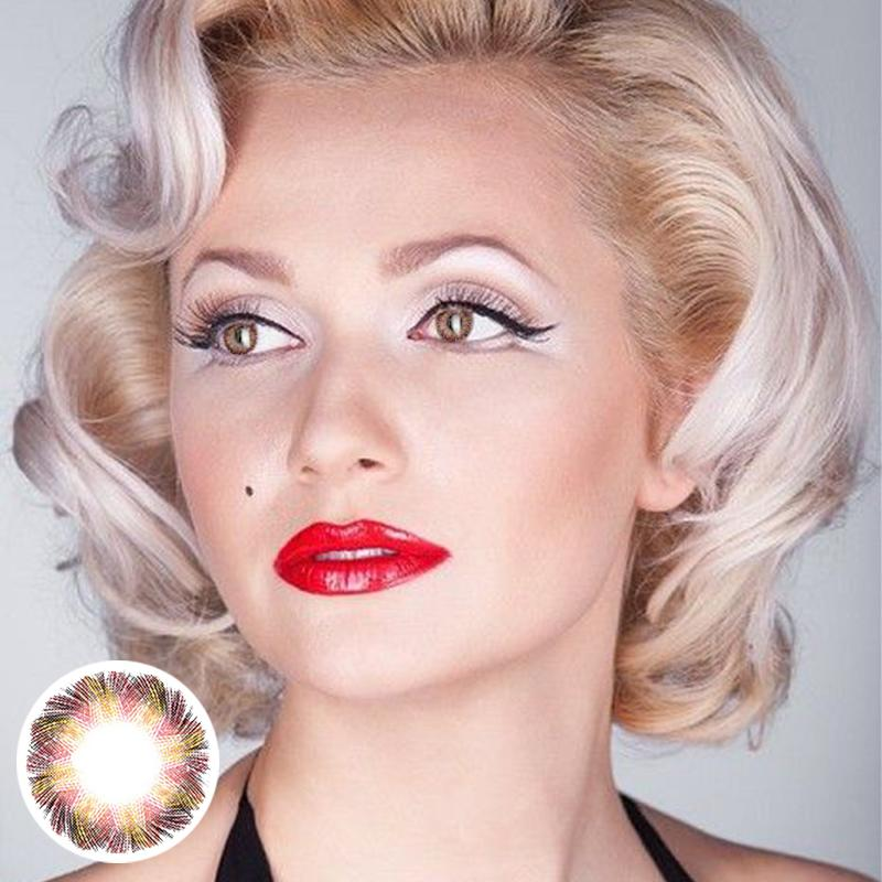 Marilyn Monroe pattern pink (12 months) contact lenses
