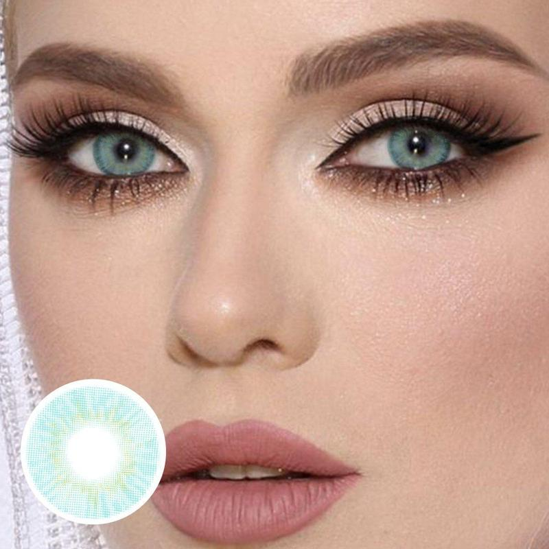Cherry Nattier Blue (12 Month) Contact Lenses - ilabar