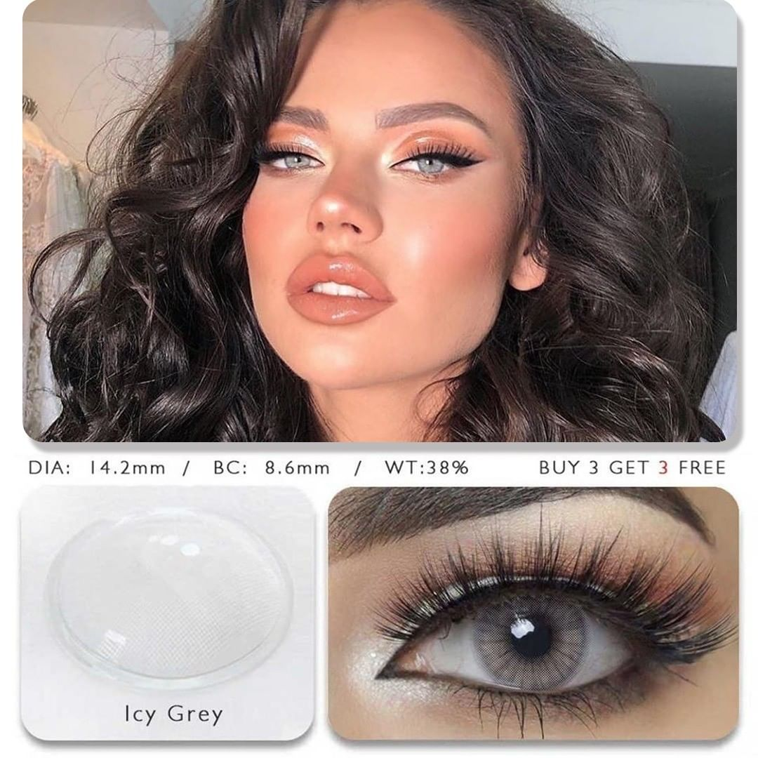 Icy Grey (12 Month) Contact Lenses