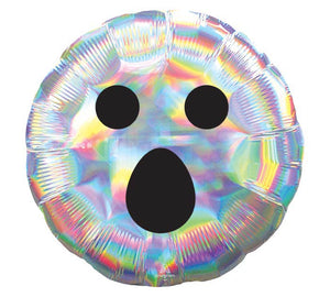 "18"" IRIDESCENT GHOST FACE BALLOON"