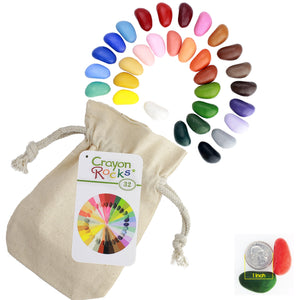 Crayon Rocks 32 Colors <br>in a Muslin Bag