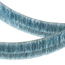 Load image into Gallery viewer, Blue Tinsel Fringe Garland