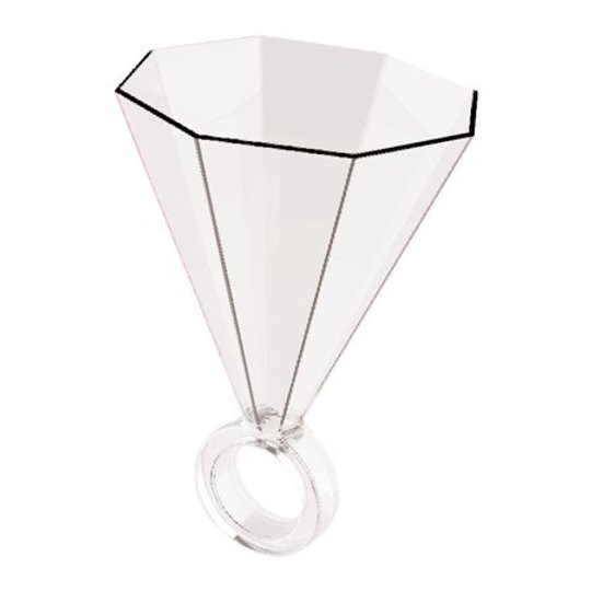Clear Acrylic Ring Shot Glass