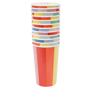 Color Wheel Highball Cups
