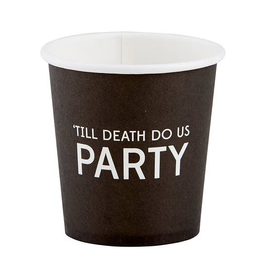 'Till Death Do Us Party Paper Shot Cups