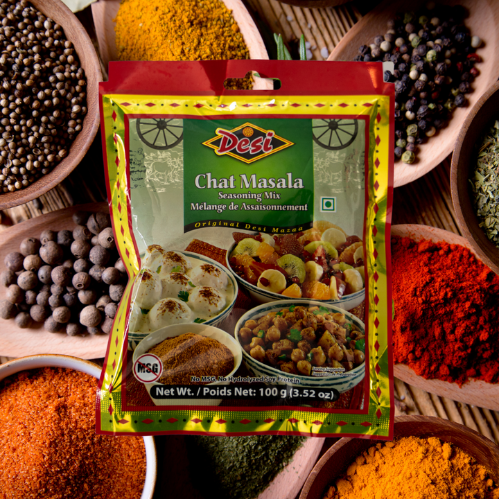 This hot, salty, tangy mix of spices is used in a lot of Indian street foods and it can be added as a finishing touch to many other Indian dishes, like chana masala, okra fry or just as a seasoning mix for vegetables and paneer.