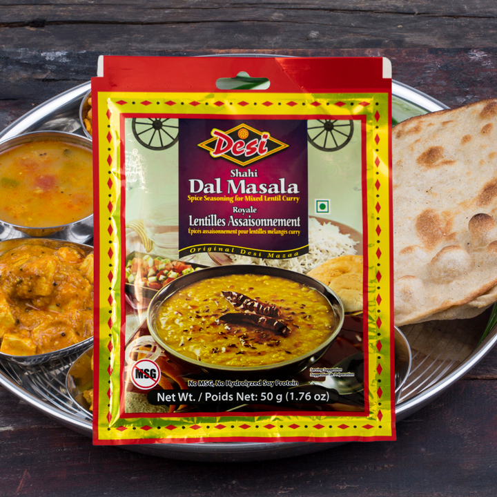 Spice seasoning for mixed lentil curry. The dal is easy to make and can be served along with any Indian bread like phulka, naan and paratha or simply topped over a bed of rice.