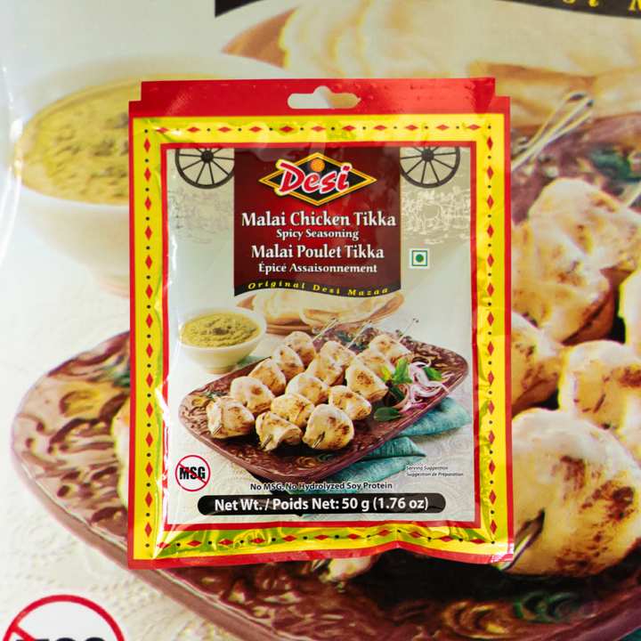 Malai Chicken Tikka or murgh malai is a mouthwatering grilled chicken recipe, with chicken pieces marinated in chillies, garlic, lemon, spices and cream (malai in Hindi).