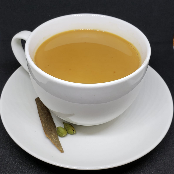 A cup of milky-brown tea