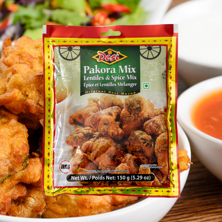 A popular Indian snack made of deep-fried battered vegetables, pakoras are the perfect appetizer for any occasion. Try them with our Date-Tamarind Chutney or with ketchup for a tasty twist.